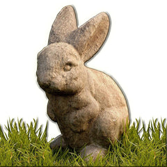 Rabbit-Ears up Cast Stone Garden Statue - Soothing Company