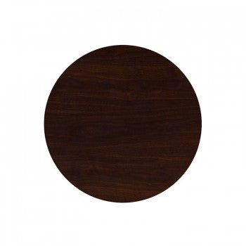 30'' ROUND RESIN WALNUT TABLE TOP [TP-WAL-30RD-GG]