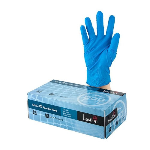 Blue Nitrile Powder Free Gloves