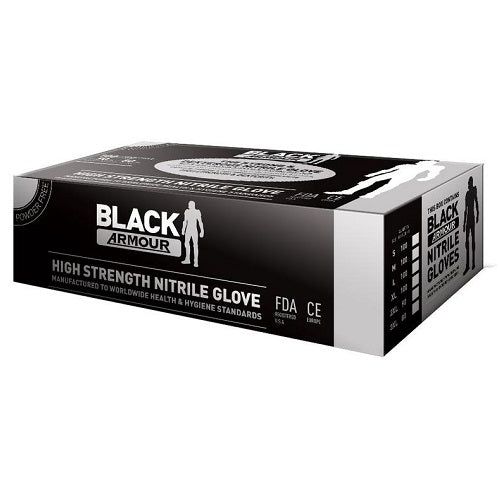 Black Armour Nitrile Gloves