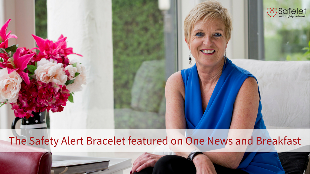 Safelet - The Safety Alert Bracelet featured on One News and Breakfast