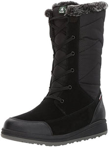 Kamik Women's Quincys Snow Boot, Black, 7 D US