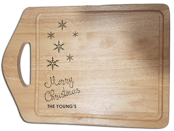 "Engraved ""Merry Christmas"" Chopping Board - A Pinch of Love Gifts"