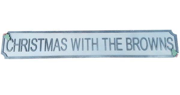 Christmas Style Street Sign - A Pinch of Love Gifts
