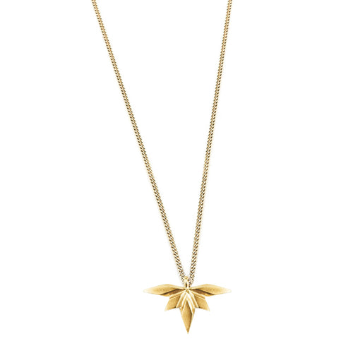 Element, tiny flying spark necklace gold plated silver