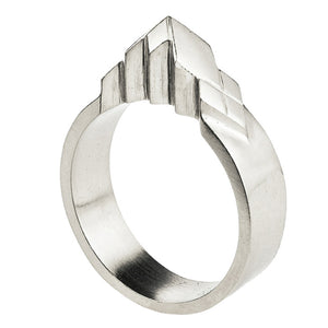 Element, Snowcapped solid silver ring