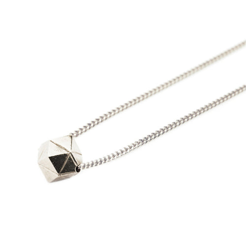Element, long meteorite necklace solid silver