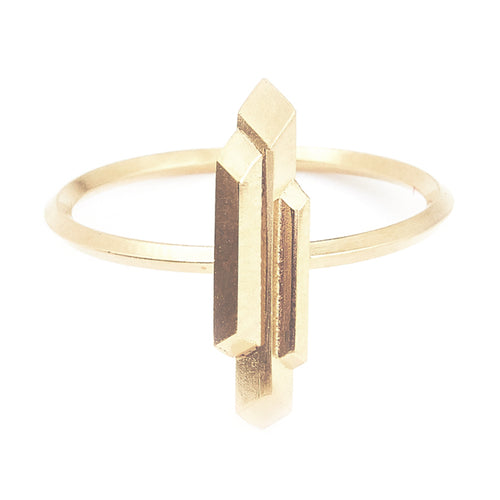 Element, small stalactite ring, gold
