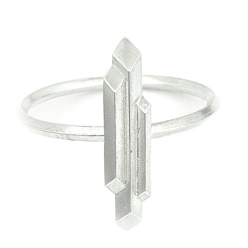 Element, small stalactite ring, silver