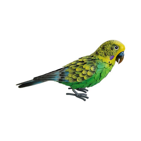 Deluxe Green Metal Budgie