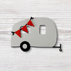 Airstream Trailer with Banner Magnet