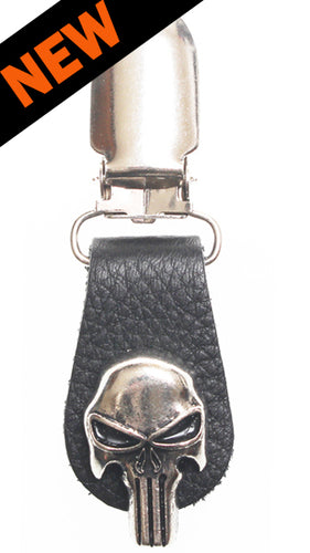 Boot Clips Punisher Skull