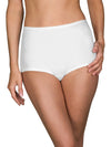 silky white panties with cotton panel