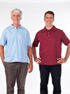 men's adaptive polo shirt with back snaps