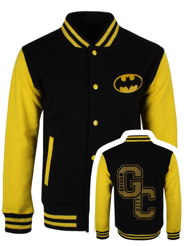 [ 50 % OFF ] BATMAN GOTHAM CITY VARSITY JACKET - FREE SHIPPING - AXEOP
