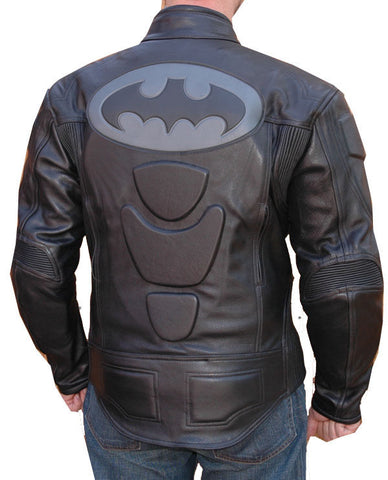 [ 50% OFF ] DARK KNIGHT BRUCE WAYNE RACING JACKET - 100% GENUINE LEATHER - AXEOP