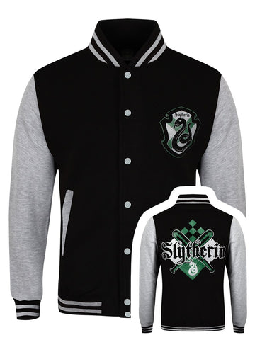 [ 50 % OFF ] HARRY POTTER SLYTHERIN HOUSE VARSITY JACKET - FREE SHIPPING - AXEOP