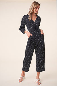 Rockaway Long Sleeve Button Up Jumpsuit