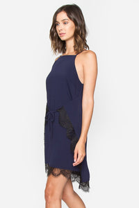 Almee Navy Slip Dress