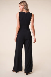 Good Vibes Deep V Jumpsuit