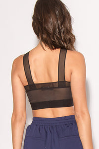Kassie Mesh Mix Crop Top