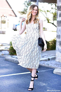 Jadore Lace Midi Dress