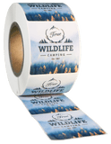 Square White High Gloss Roll Label - Custom Printed