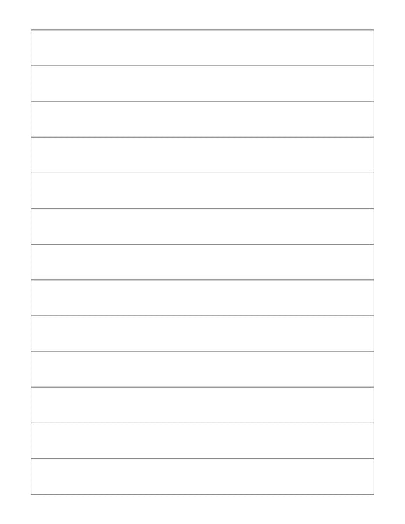 7.194 x 3/4 Rectangle Removable White Printed Label Sheet