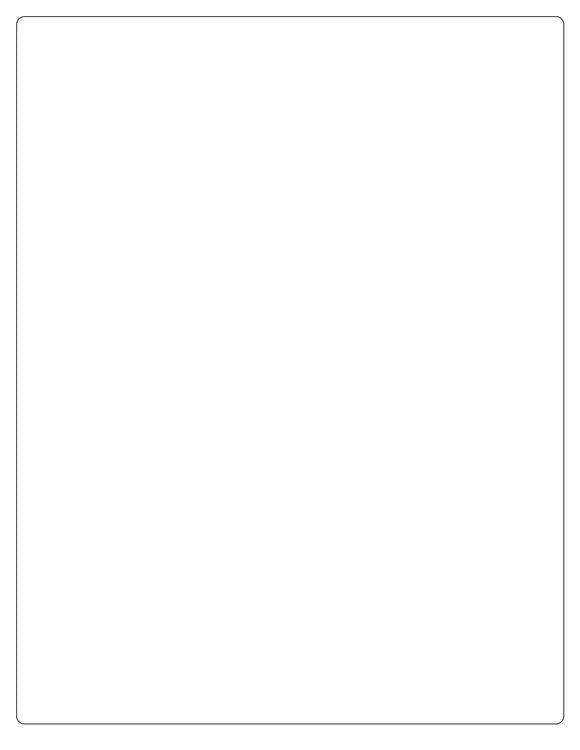8 x 10 3/8 Rectangle Removable White Printed Label Sheet