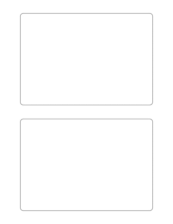 6 1/2 x 4 1/2 Rectangle Removable White Printed Label Sheet