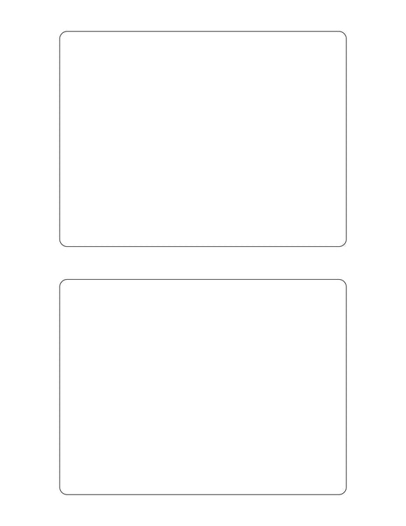 6 x 4 1/2 Rectangle Removable White Printed Label Sheet