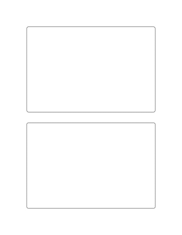 6 x 4 Rectangle Removable White Printed Label Sheet