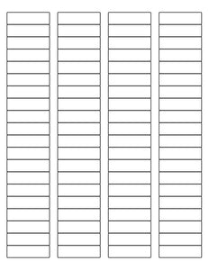 1 3/4 x 1/2 Rectangle Recycled White Label Sheet