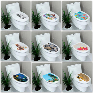 Stickers My House 32*39cm WC Pedestal Pan Cover Sticker Toilet Stool Commode home  Bathroon decor