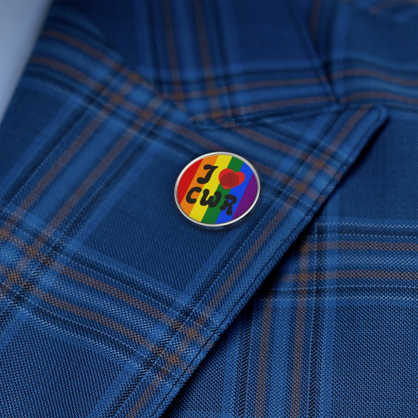 Metal Pin I Love CWR Rainbow