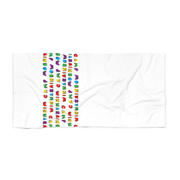 Shower Towel Camp Winnarainbow Bubble Letter