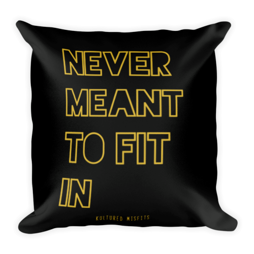"""Never Fit In"" Throw Pillow"