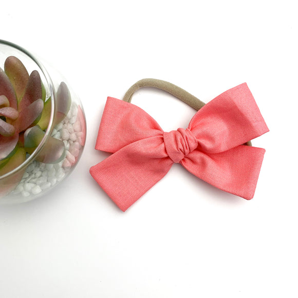 Light Coral Isabella Bow
