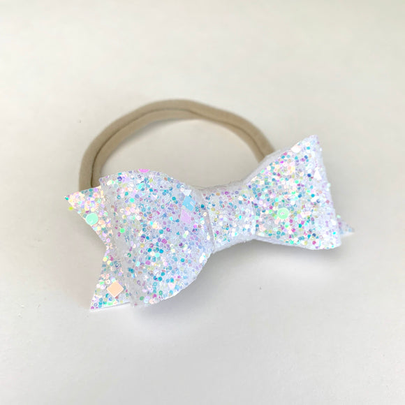 Frost Iridescent Geometric Kassidy Jane Bow (2 sizes)