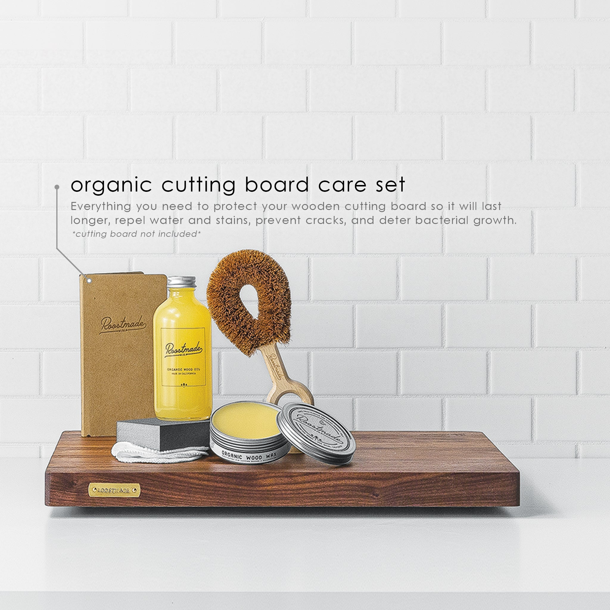 Organic Cutting Board Care Set