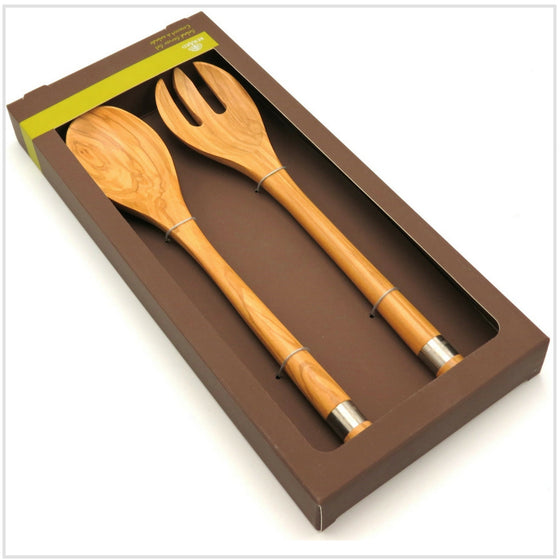Bérard Salad Server Set in Olivewood