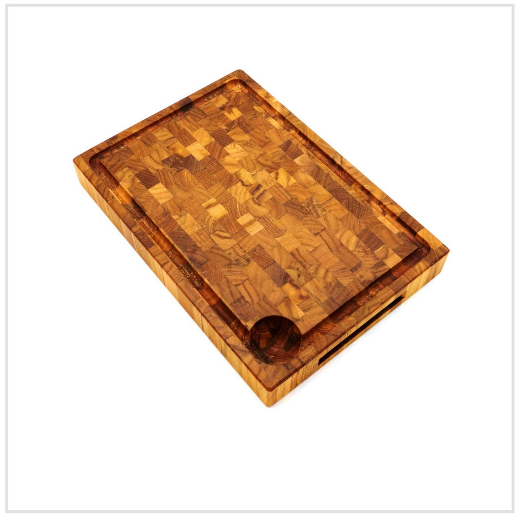 Cutting Board, Endwood in Teak, Oil Finish, 24x35cm