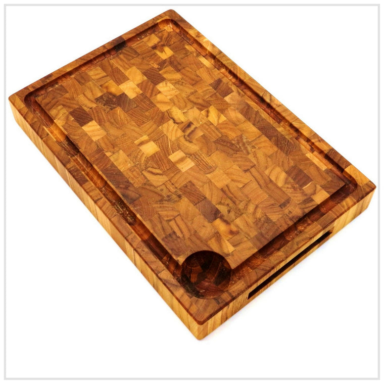 Cutting Board, Endwood in Teak, 56x35cm
