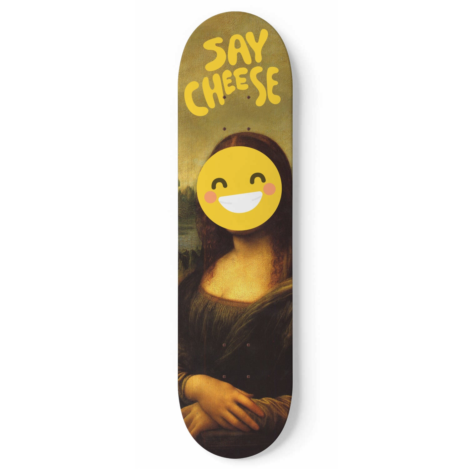Say Cheese - 1 Piece Skateboard Wall Art