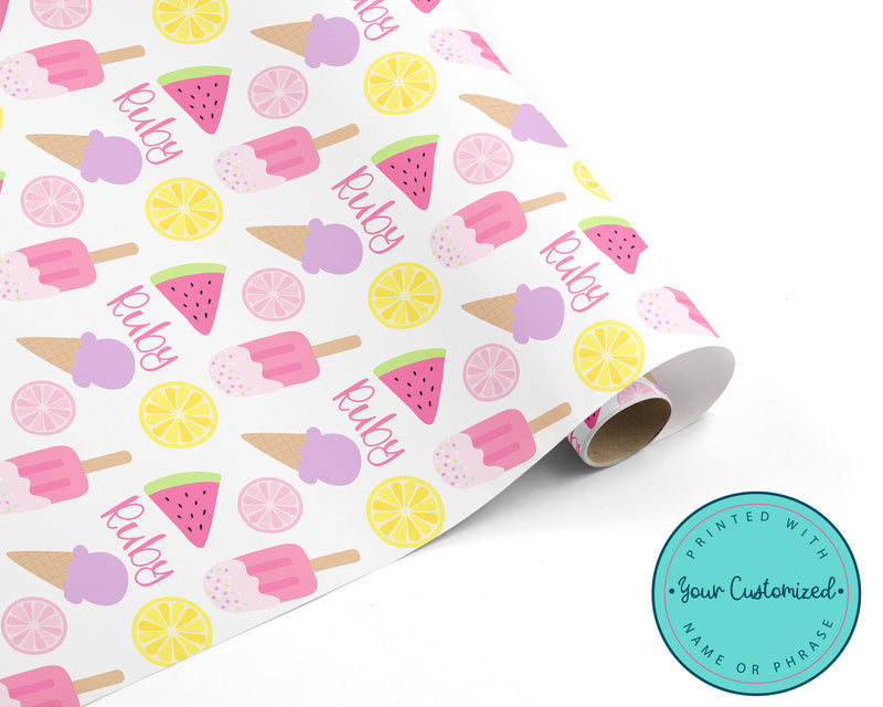 Personalized Cool Treats Wrapping Paper