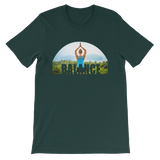 Balance Yoga T-shirt - Forest Green Tee