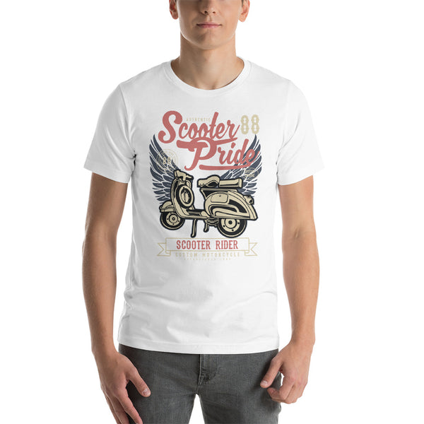 Scooter Pride 1988 Scooter Rider Custom Motorcycle Vintage Graphic T-Shirt