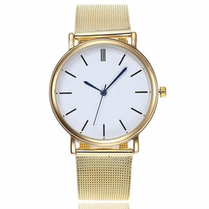 Classy Fashion Stainless Steel Mesh Gold Watch