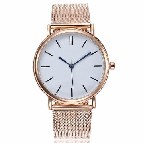 Classy Rose Gold Fashion Stainless Steel Mesh Watch