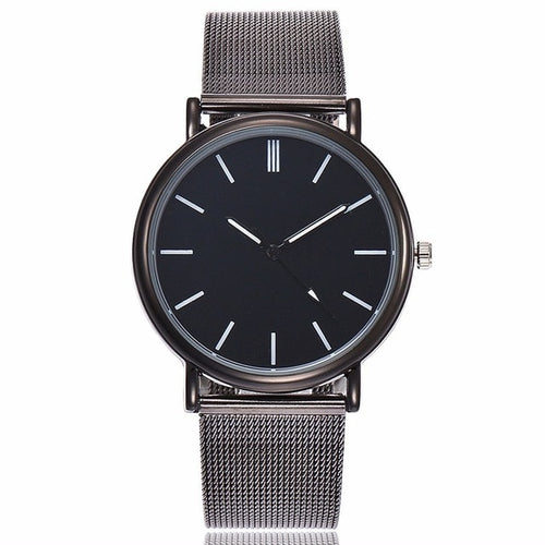 Classy Black Fashion Stainless Steel Mesh Watch